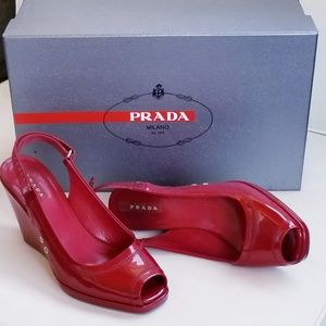 SALE!!! PRADA Red Patent Shoes